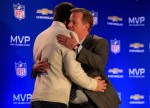 Brady & Goodell hug after TB is awarded the Super Bowl MVP award (Photo courtesy of  Jamie Squire / Getty Images