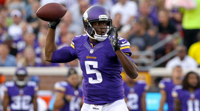 Vikings v Steelers: Minnesota Leads 7-3 at Half, Bridgewater Finishes 5-for-6 After Playing One Series