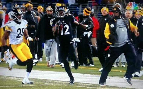 Mike Tomlin Tripping Jacoby Jones of the Ravens